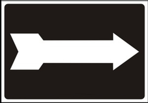 Arrow Sign White on Black