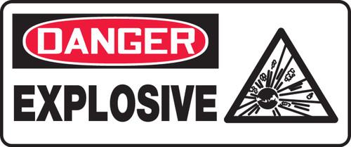 Danger - Explosive (W/Graphic) - Adhesive Dura-Vinyl - 7'' X 17''