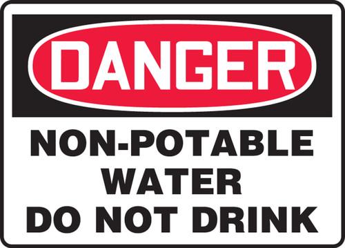Danger - Non-Potable Water Do Not Drink - Adhesive Dura-Vinyl - 14'' X 20''