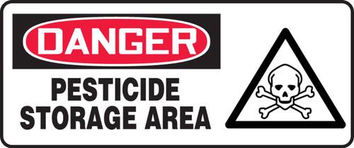 Danger - Pesticide Storage Area (W/Graphic) - Re-Plastic - 7'' X 17''