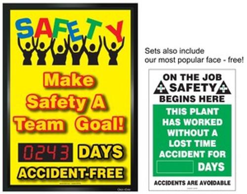 Digi Day Changeable Safety Scoreboard Teamwork Improves Safety