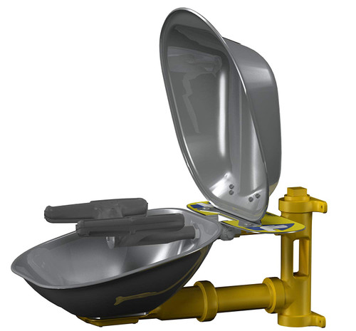 Bradley S19224DCFW Eyewash Station Full Face Stainless Bowl  and Cover