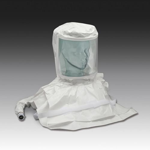 Double Bib Pharmaceutical Saran Respirator Hood w/Air Temp.Controller- High Pressure