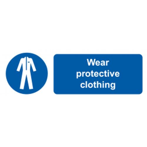 Wear Protective Clothing - Adhesive Vinyl - 6''