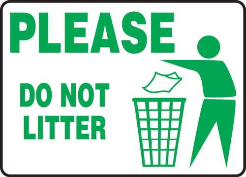 MHSK966VP Please do not litter sign