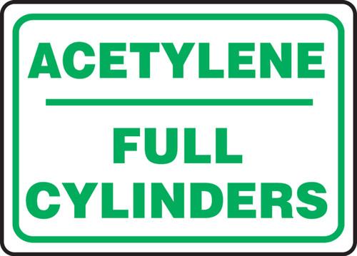 Acetylene Full Cylinders - Adhesive Dura-Vinyl - 10'' X 14''