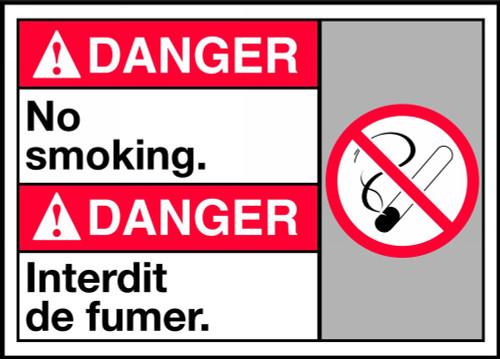 Danger No Smoking Sign