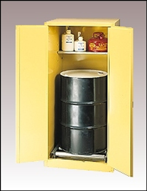 Eagle  Drum Cabinet 55 Gal. 2 Door Manual Vertical Drum