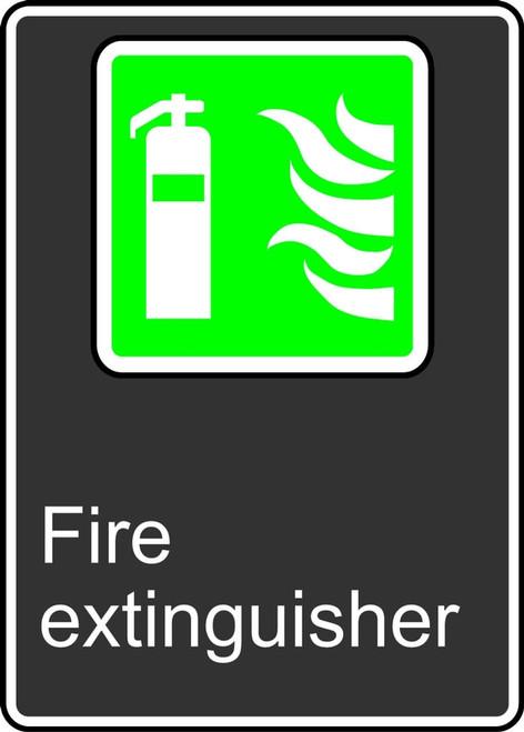 Fire Extinguisher (Extincteur D'Incendie) - Plastic - 14'' X 10''