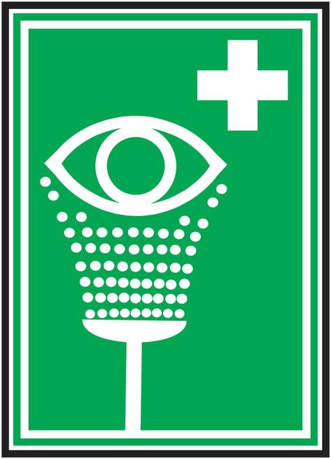 Eyewash Iso - Adhesive Dura-Vinyl - 10'' X 7''