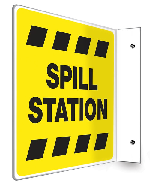 Spill Station Sign- Projection Sign