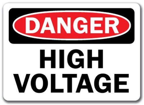 Danger - High Voltage - Re-Plastic - 10'' X 14''