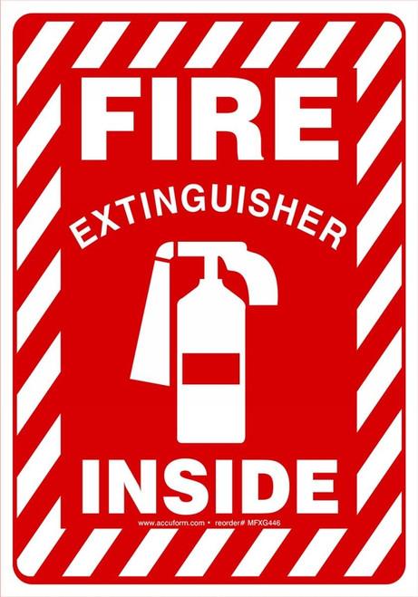 Fire Extinguisher Inside Sign MFXG446