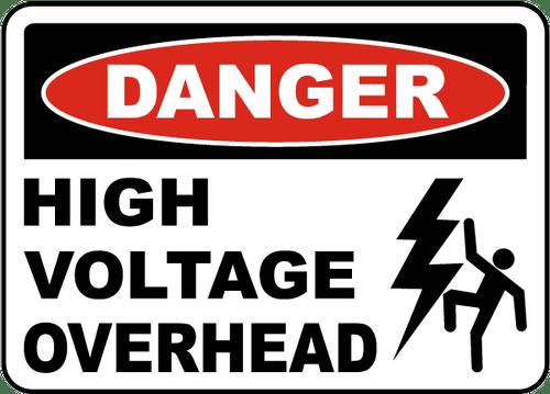 Danger - Danger High Voltage Overhead - Max Alumalite - 36'' X 48''