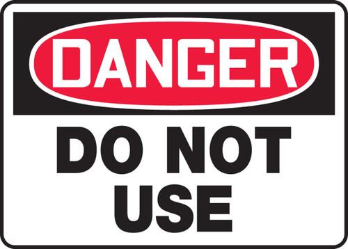 Danger - Do Not Use
