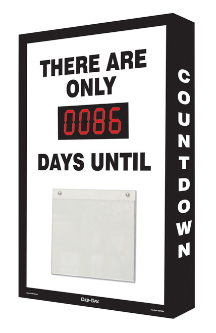 Countdown Scoreboard- Digi Day - black and white