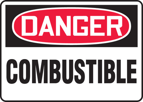 Danger - Combustible - Adhesive Vinyl - 10'' X 14''