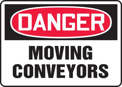 Danger - Moving Conveyors