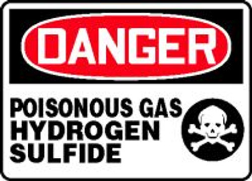 Danger - Poisonous Gas Hydrogen Sulfide 1