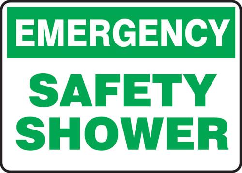 Emergency Safety Shower - Adhesive Vinyl - 10'' X 14''