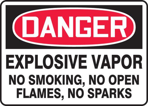 Danger - Explosive Vapor No Smoking, No Open Flames, No Sparks