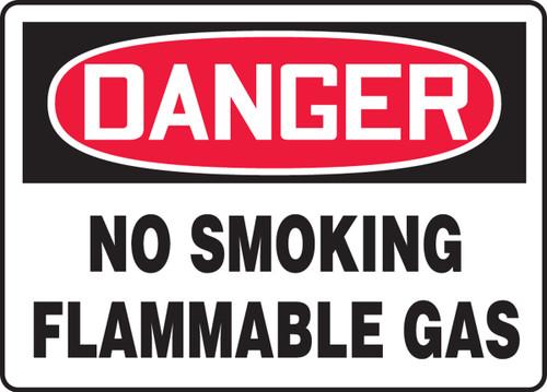 Danger - No Smoking Flammable Gas