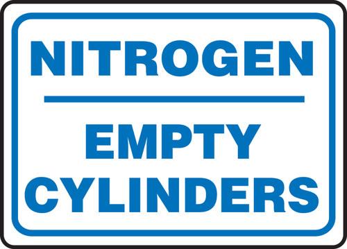 Nitrogen Empty Cylinders - Re-Plastic - 10'' X 14''