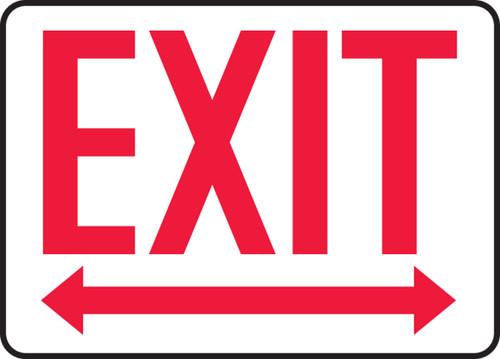Exit (Arrow Left & Right) - Plastic - 7'' X 10''