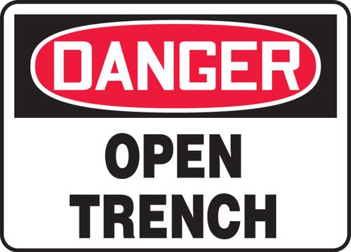 Danger - Open Trench - Dura-Fiberglass - 18'' X 24''