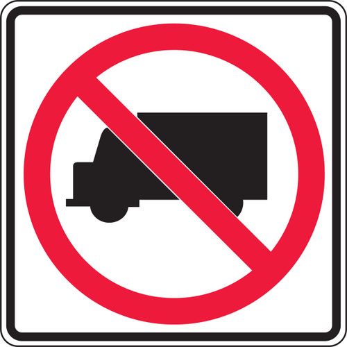 No Trucks Pictorial Traffic Sign