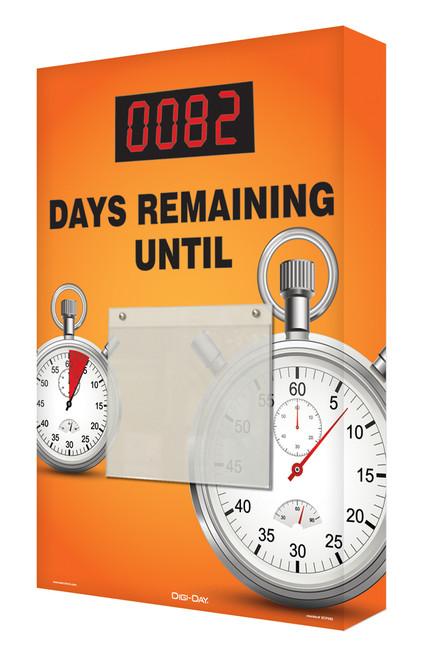 Countdown Scoreboard Digi Day- orange stopwatch