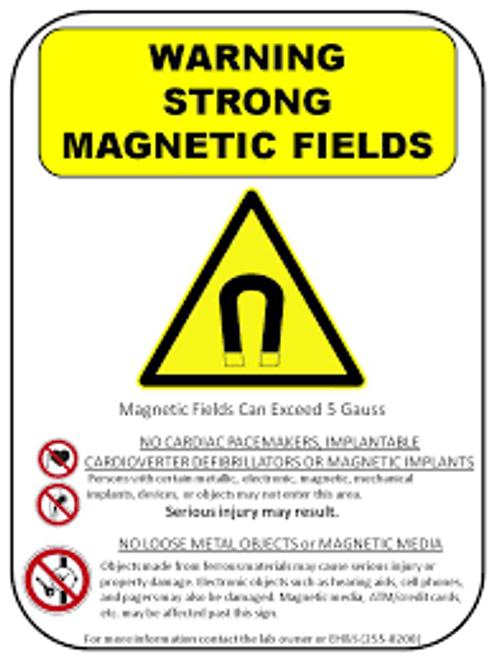 Electro Magnetic Hazard - Plastic - 6''