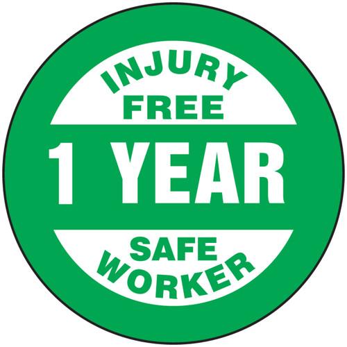 Injury Free 1 Year Safe Worker