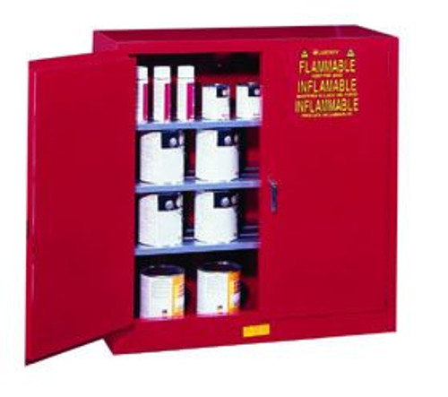 Justrite Red Paint and Ink Safety Cabinet for Combustibles- 40 Gallon