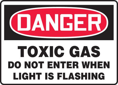 Danger - Danger Toxic Gas Do Not Enter When Light Is Flashing