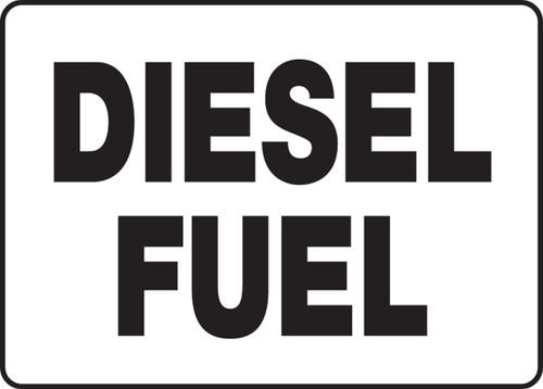 Diesel Fuel - .040 Aluminum - 10'' X 14''
