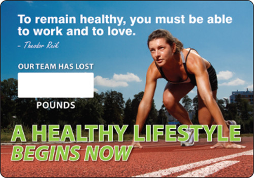 Work Healthy Write A Day Pounds Lost Scoreboard Aluminum 3
