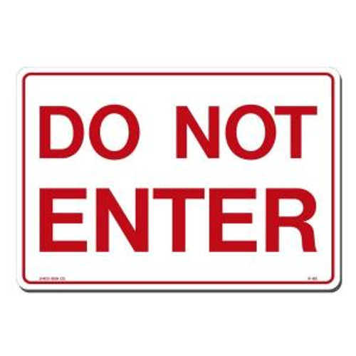 Do Not Enter - Re-Plastic - 12'' X 18''