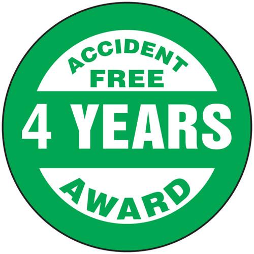Accident Free Award 4 Years