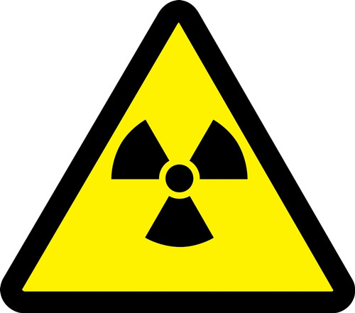 Radioactive Material Hazard - .040 Aluminum - 6''