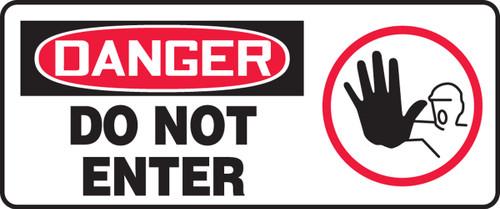 Danger - Do Not Enter (W/Graphic) - Adhesive Vinyl - 7'' X 17''