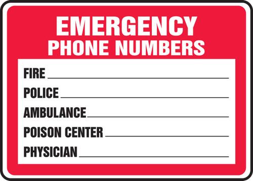 Emergency Phone Numbers  ...