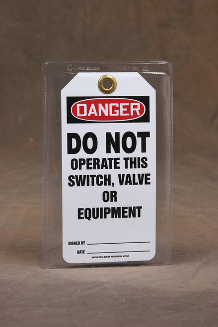 Clear Plastic Self-adhesive Safety Tag Pouch