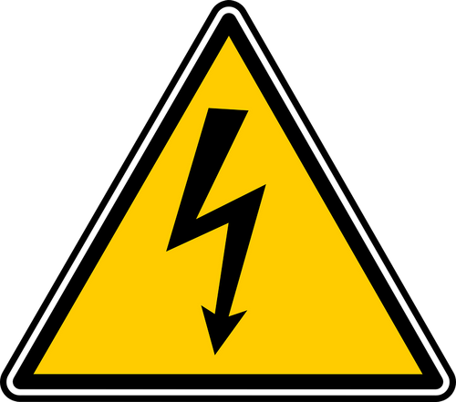 High Voltage Sign with Graphic