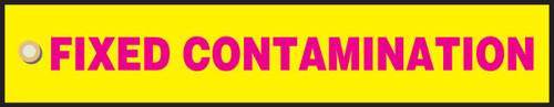 Fixed Contamination- Radiation Slide Sign Insert