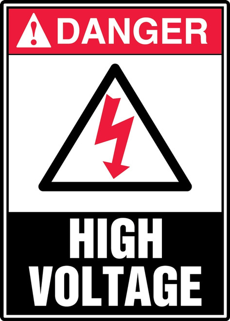 Danger - High Voltage (W/Graphic) - Dura-Fiberglass - 14'' X 10''