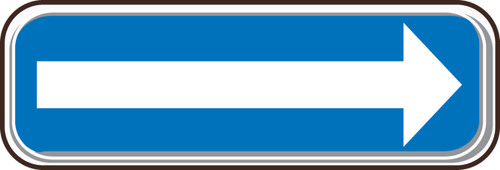 Arrow (white/blue)