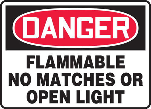 Danger - Flammable No Matches Or Open Light