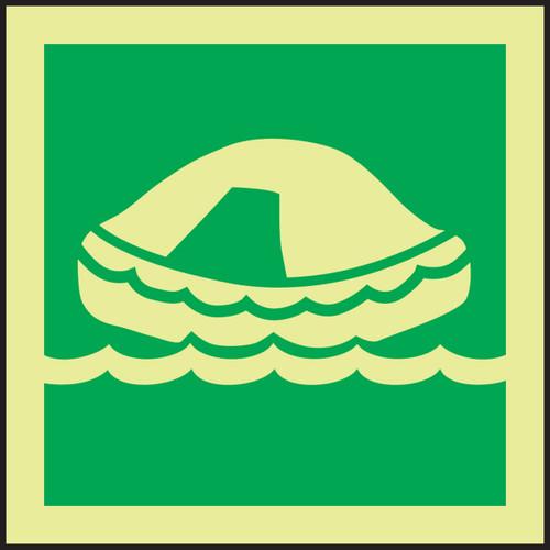 Life Raft IMO Sign
