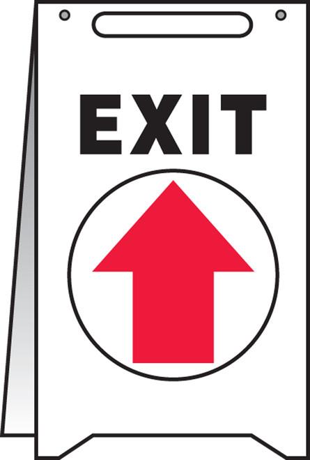 Exit Fold Up Sign (up Arrow)